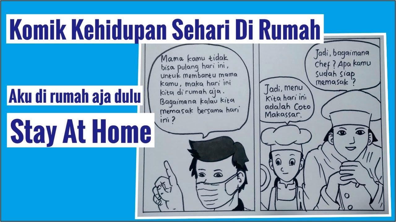 Menggambar Komik Kehidupan Sehari Di Rumah Komik 2 Dua Lembar Youtube