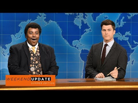 'Neil deGrasse Tyson' confesses he wants to experience the eclipse fully nude on 'Weekend Update'
