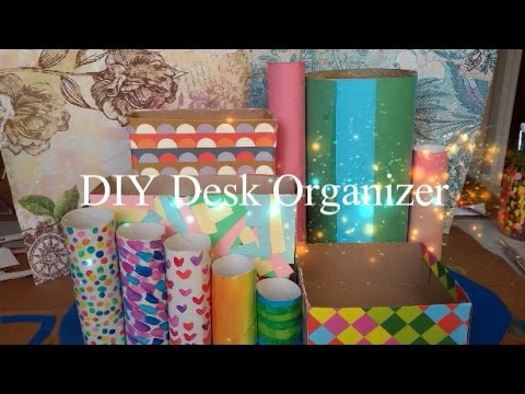 DIY Desk Organizer- Made from items you already have!