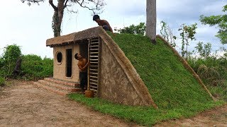 Build Amazing Mod House With Most Beautiful Grass Roof