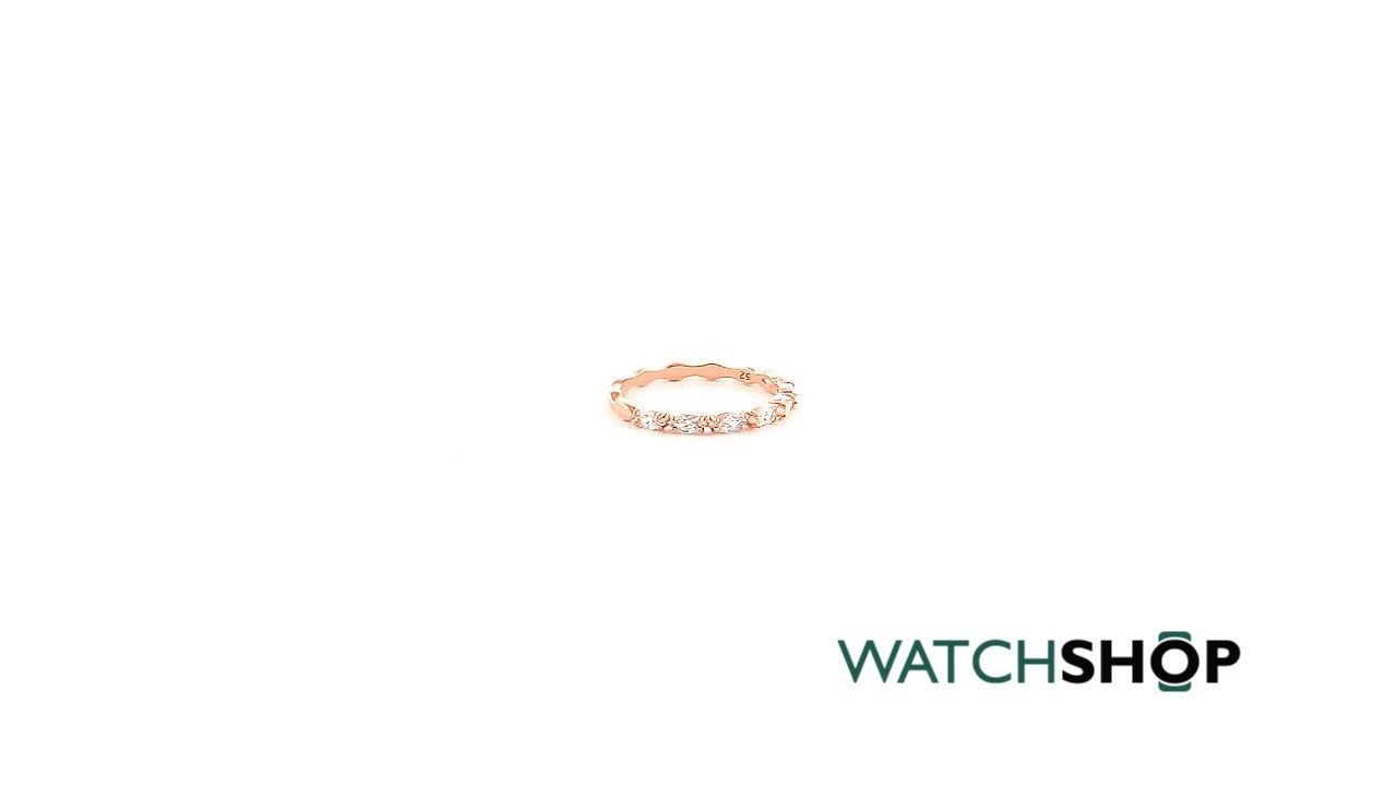 Ladies Swarovski Rose Gold Plated Vittore Ring Size 52 (5366583 ... 0116e94f11b