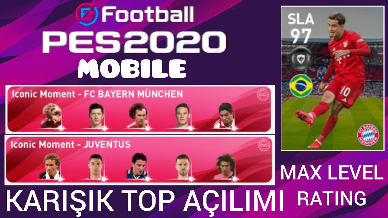 ICONIC MOMENT JUVENTUS & B. MUNIH TOP AÇILIMI e footnbal pes 2020 Mobile