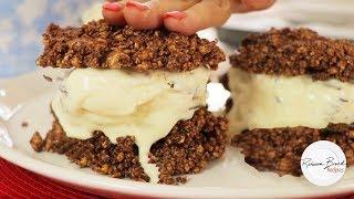 How to Make Popcorn Cookie Ice Cream Sandwich Recipe