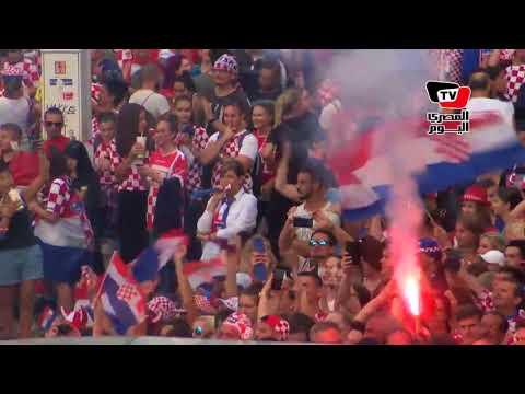 احتفال الكروات بعد الهدف الثاني أمام فرنسا بنهائي كأس العالم  - نشر قبل 3 ساعة
