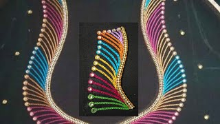 Blouse Design With Chain Stitch | Aari Maggam Works