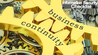 Business continuity and Disaster Recovery  Audit Checklist   ISO 27001 compliance