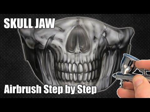 Skull Helmet Chin Guard Step by Step