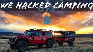 Camping overlanding family of 7