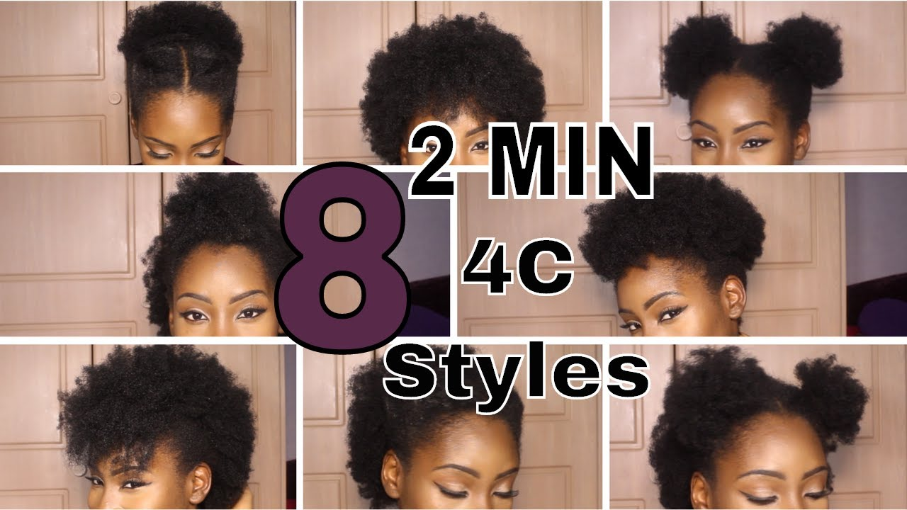 8 super quick hairstyles on short 4c hair