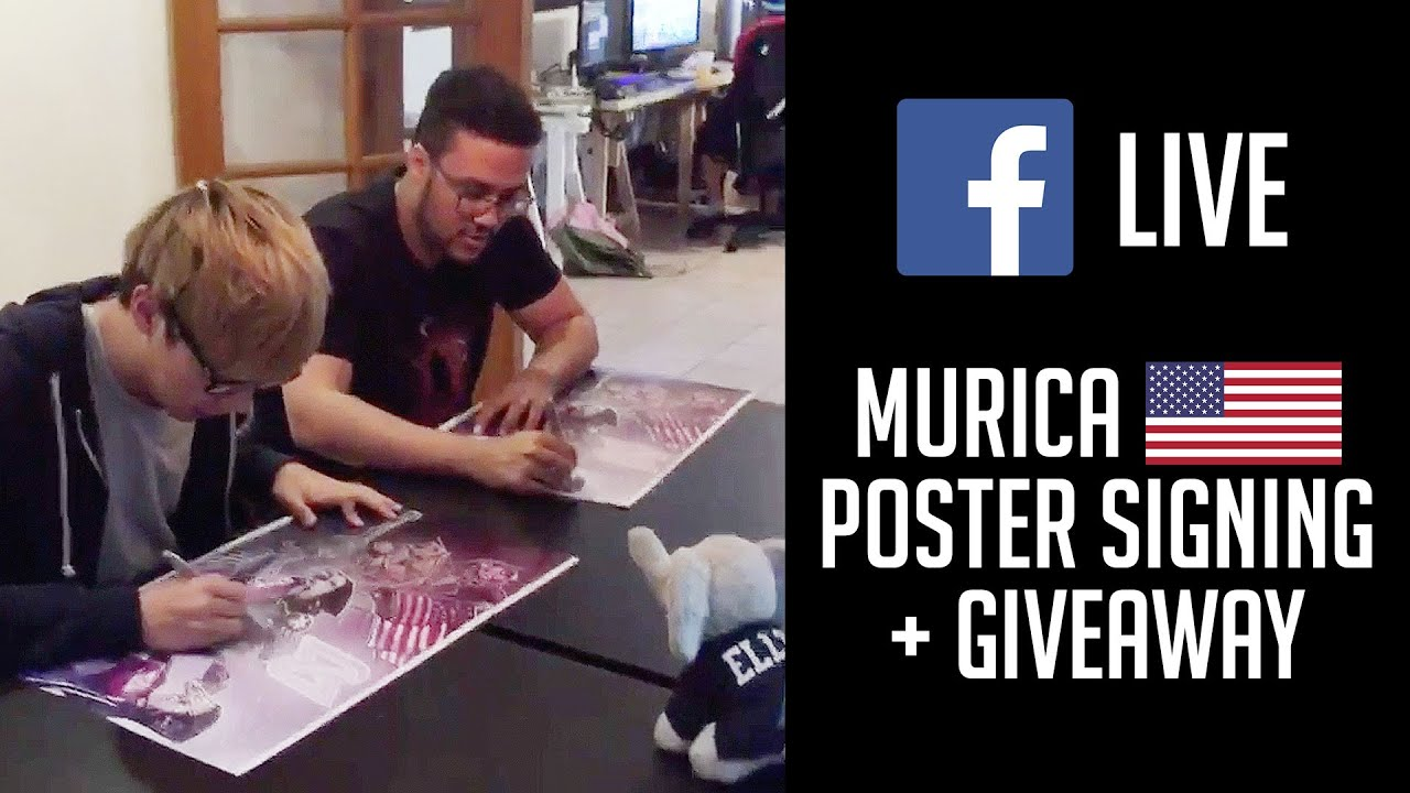 MSI MURICA Poster Signing + Giveaway | CLG LoL Facebook Live