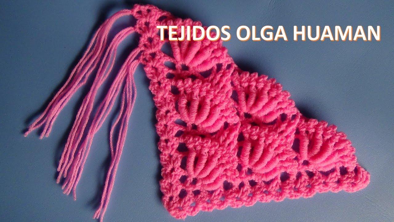 como hacer los flecos para chal tejido a crochet - YouTube 20b679d6d42b