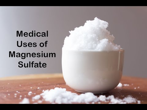 Medical Uses Of Magnesium Sulfate