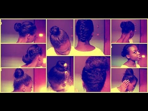 Hairstyles For Black Permed Hair Medium Length : 9 everyday protective hairstyles relaxed texlaxed&natural hair