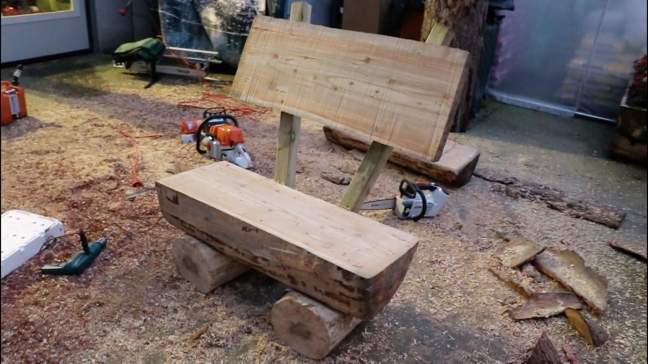 Come costruire una panchina da giardino con tronchi di legno youtube