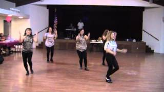 Dirty Work Line Dance performed by the Divas