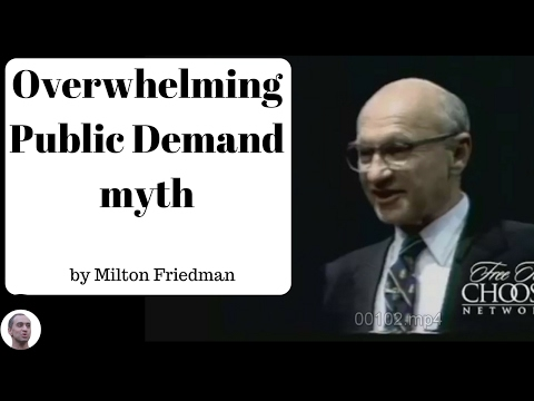 Overwhelming Public Demand myth - Milton Friedman