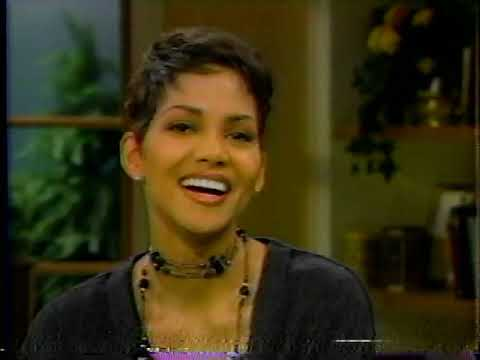 """Halle Berry at age 27 on Regis & Kathy Lee Promoting """"The Program"""" – 1993"""