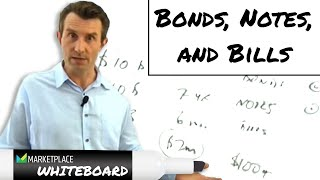 The difference between bonds, notes and bills
