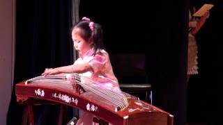 Angie performed the Chinese Traditional Music Instrument - Gu Zheng (古筝)
