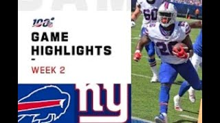 Giants vs. Bills Week 2 Highlights | NFL 2019