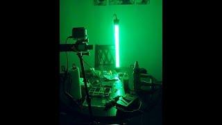 homemade green led fishing light, Reel Combo