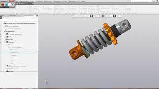 Видеоуроки Компас 3D V17 Анимация сжатия-растяжения пружины