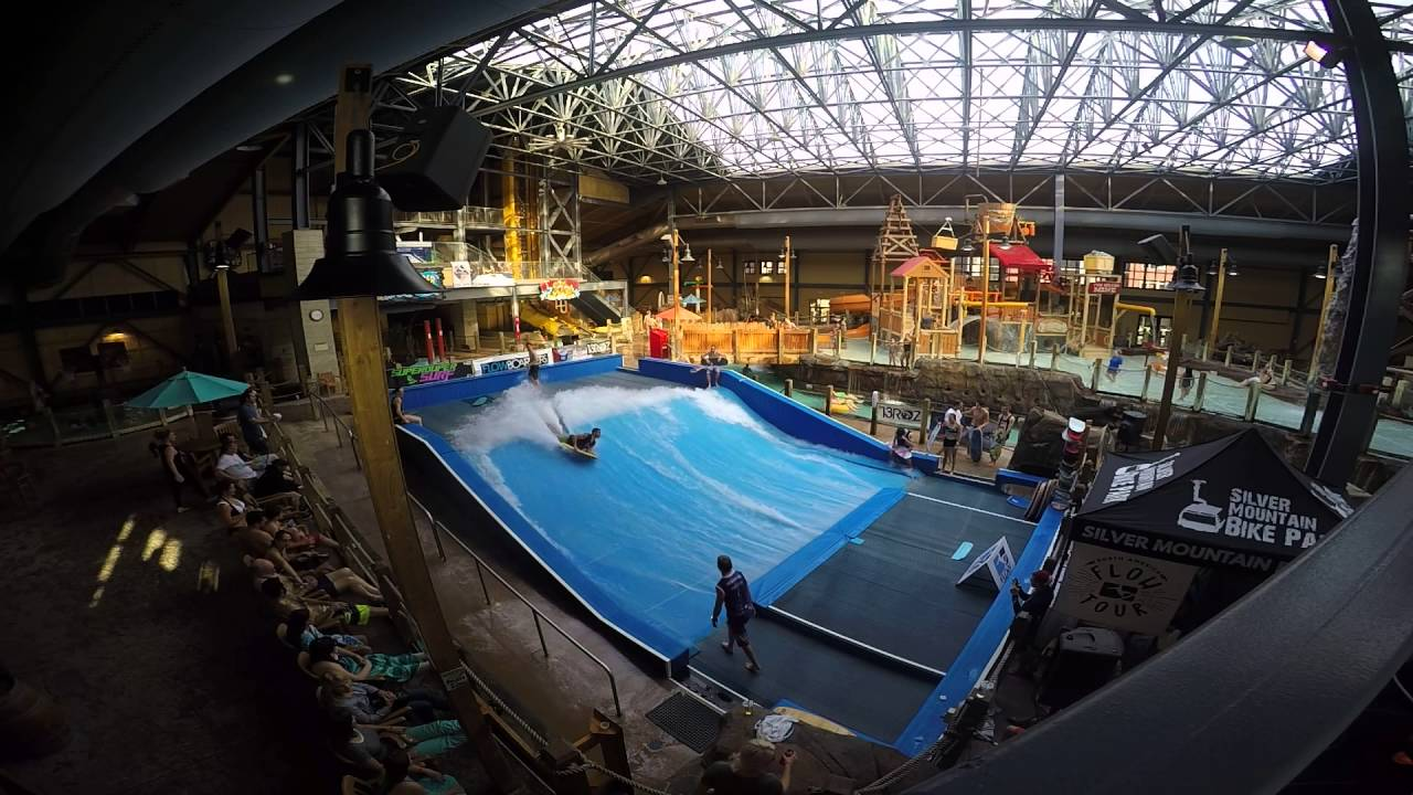 Silver Mountain Water Park >> Flowboarders Practicing At Silver Rapids Waterpark In Idaho For The