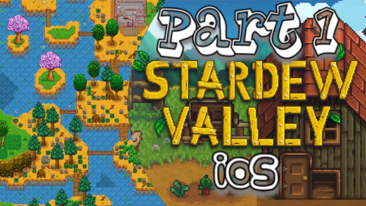 Stardew Valley Part 1 IOS/Android   Fishing + Starting My Farm
