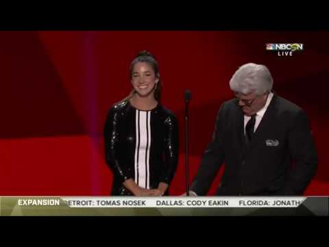 Aly Raisman Receives Cringe-Worthy Comment in NHL Awards 2017