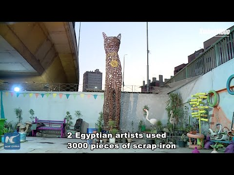 Young Egyptian artists turn scrap iron into artwork