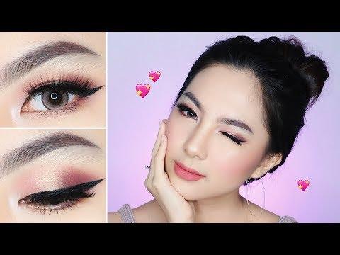 Calm Blushy Pinkish VALENTINE's Makeup Tutorial 💕