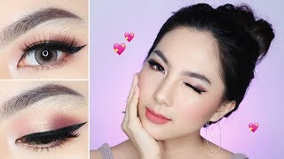 Calm Blushy Pinkish VALENTINE's Makeup Tutorial 💕