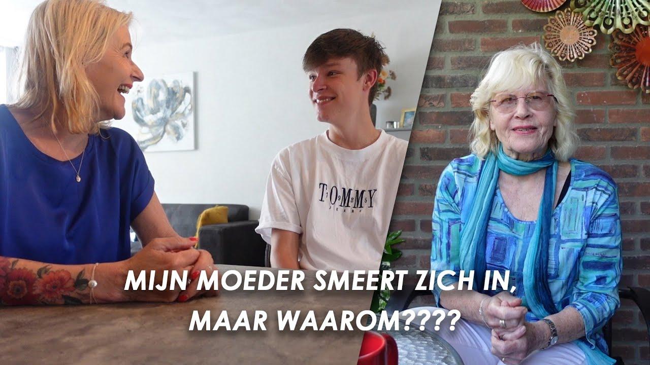 Mijn moeder smeert zich in, maar waarom?? #vlog121