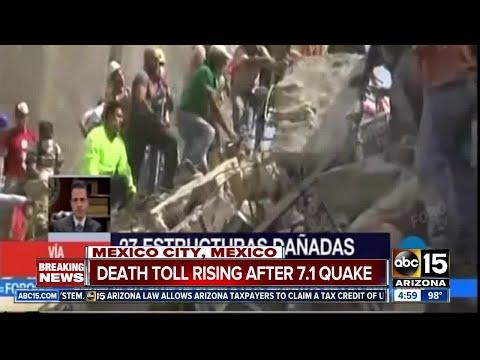 Earthquake in Mexico City kills over 100 peple