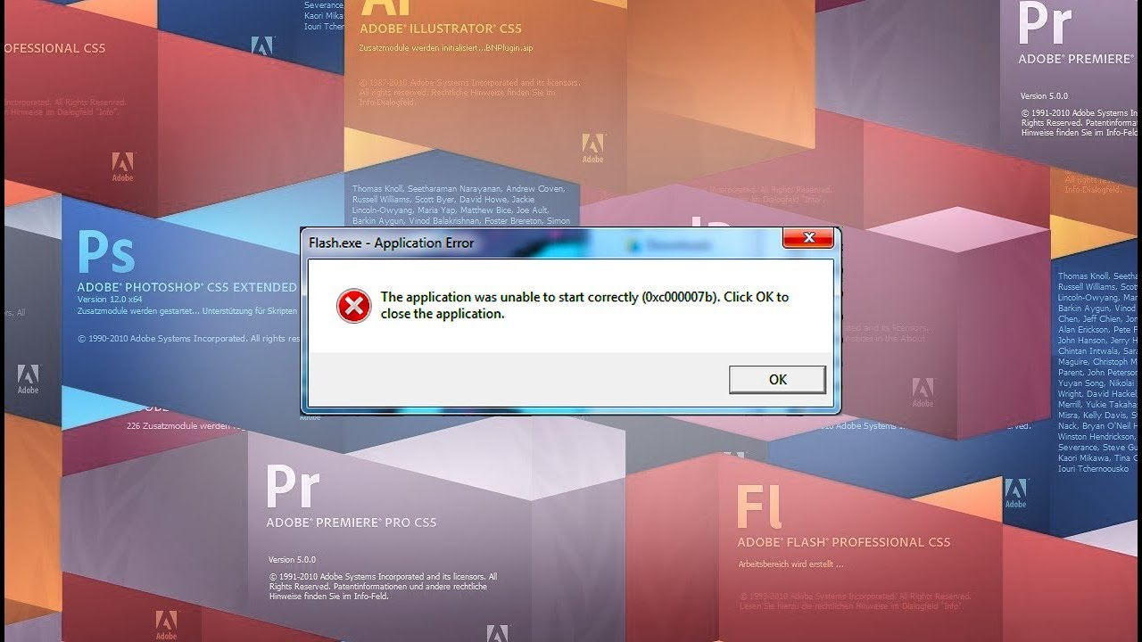ADOBE CS6/CC: HOW TO FIX (0xc000007b) - Works with other programs