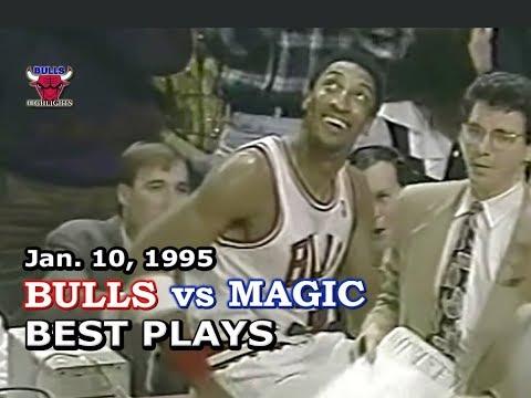 January 10, 1995 Bulls vs Magic highlights