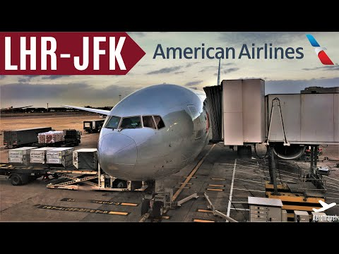AMERICAN AIRLINES | BOEING 777-200er | LONDON - NEW YORK JFK | TRIPREPORT | AA141 | ECONOMY HD