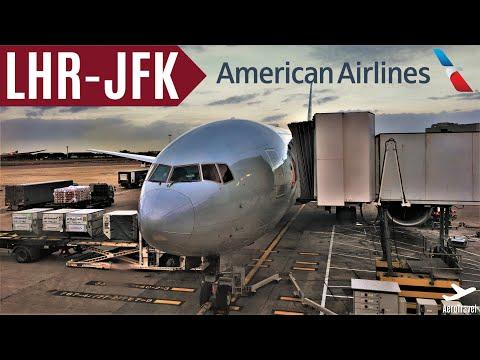 AMERICAN AIRLINES   BOEING 777-200er   LONDON - NEW YORK JFK   TRIPREPORT   AA141   ECONOMY HD