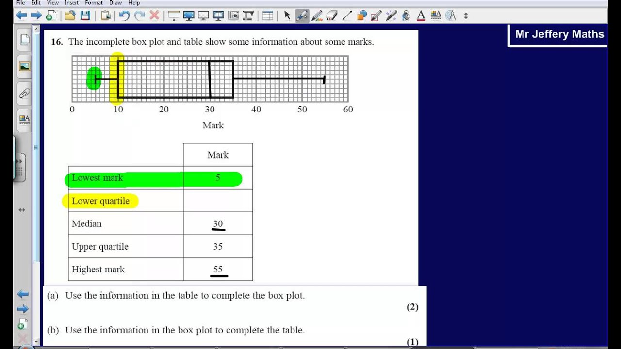 Doing Statistics coursework, how to do BLOX PLOTS?