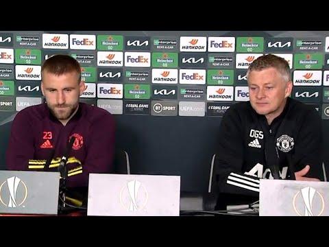 Ole Gunnar Solskjaer & Luke Shaw - Man Utd v Roma - Pre-Match Presser - Europa League Semi-Final