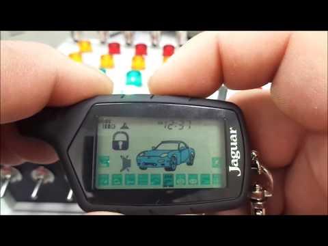 Автосинализация Jaguar TEZ-beta программирование кнопок брелка