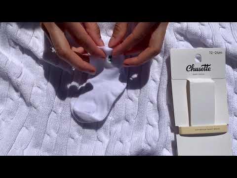 White baby socks. Extra soft cotton