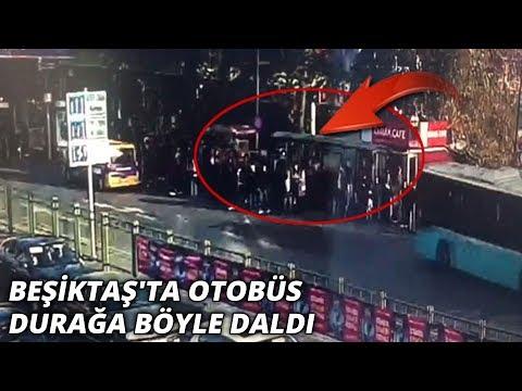 Beşiktaş'taki otobüs dehşetinin görüntüleri ortaya çıktı
