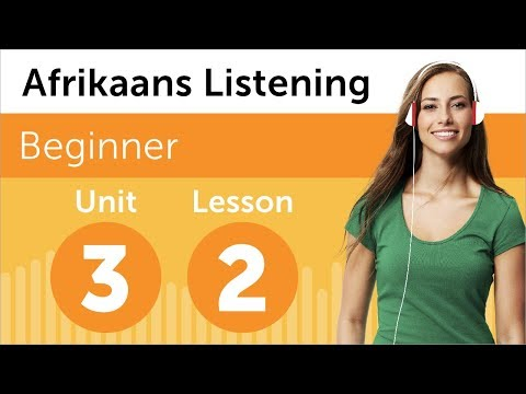 Afrikaans Listening Practice - Choosing a Delivery Time in South Africa