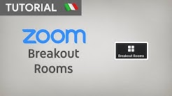 Gestione delle STANZE (Breakout Rooms) su ZOOM MEETING - [LUIGI TRAINING]