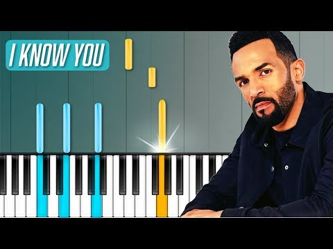 "Craig David - ""I Know You"" ft Bastille Piano Tutorial - Chords - How To Play - Cover"