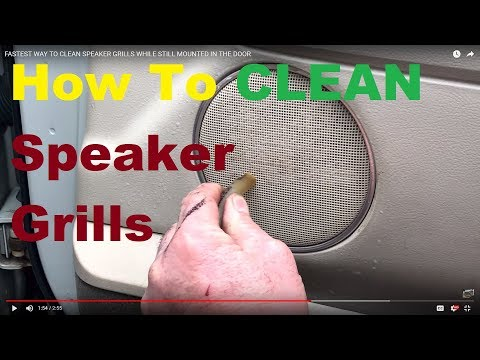 How To Clean Speaker Grills in your CAR or TRUCK