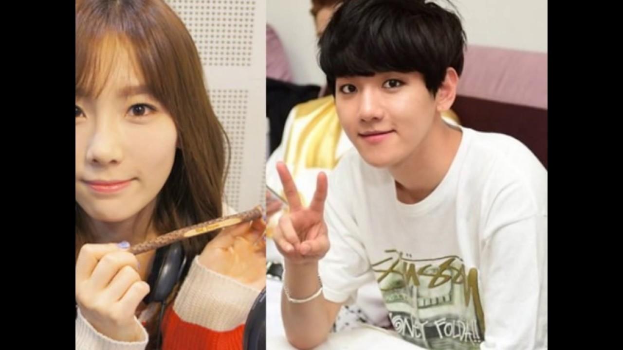 Baekhyun und Taeyeon Dating-Kuss