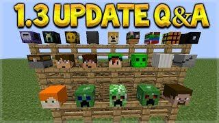 Minecraft Bedrock - UPDATE 1.3 NEW Dimension & Custom Mob Heads Q&A (Better Together Update)