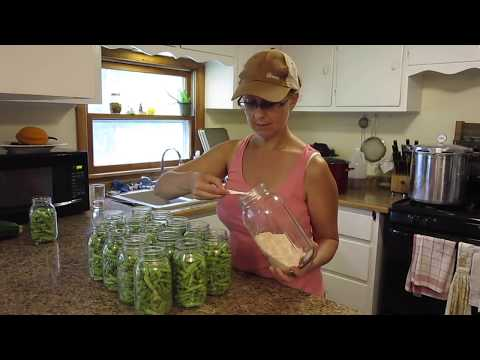 How to Can Green Beans.  Our FIRST Canning Goal REACHED!!!
